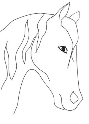 easy drawings beginners horse drawing head pencil step animal line draw horses simple sketches becuo beginner outline mer getdrawings yahoo