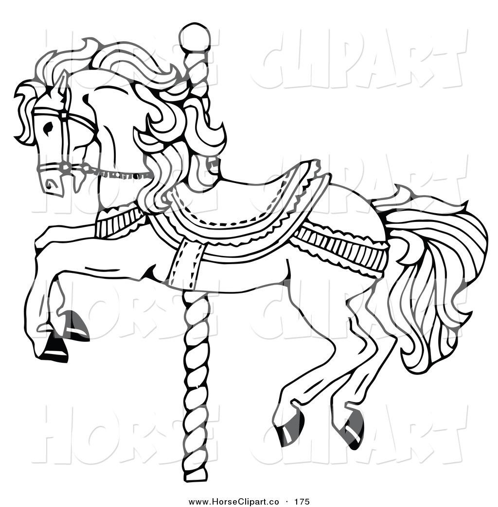 Horse Line Drawing Clip Art At Getdrawings