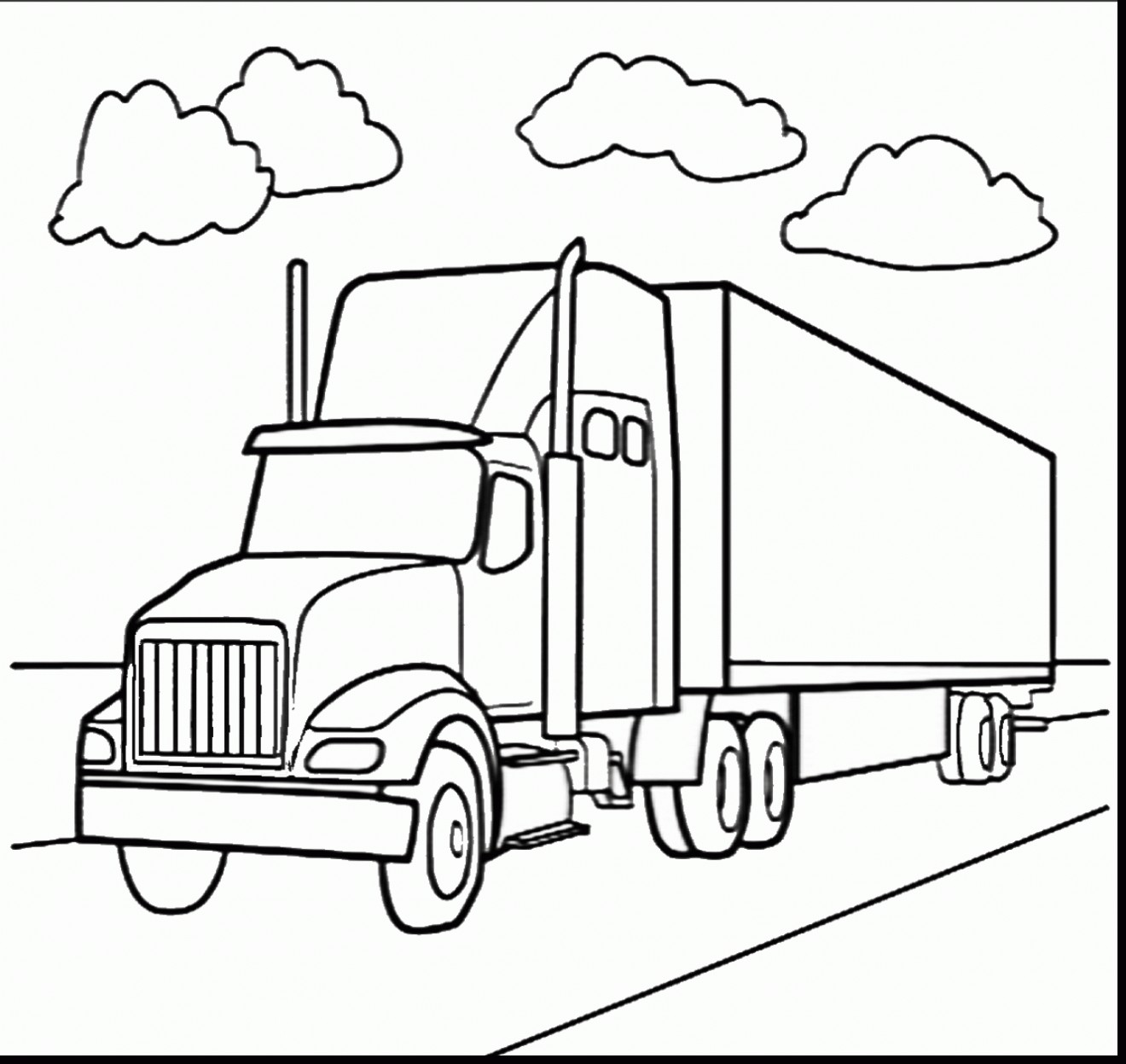The Best Free Trailer Drawing Images Download From 366