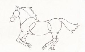 horse easy drawing step horses getdrawings