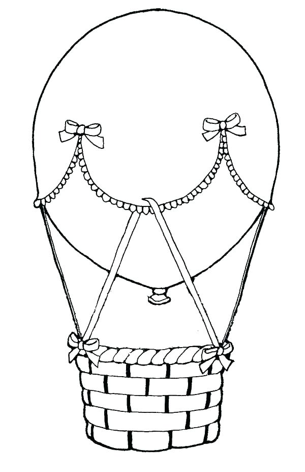 Hot Air Balloon Basket Coloring Pages