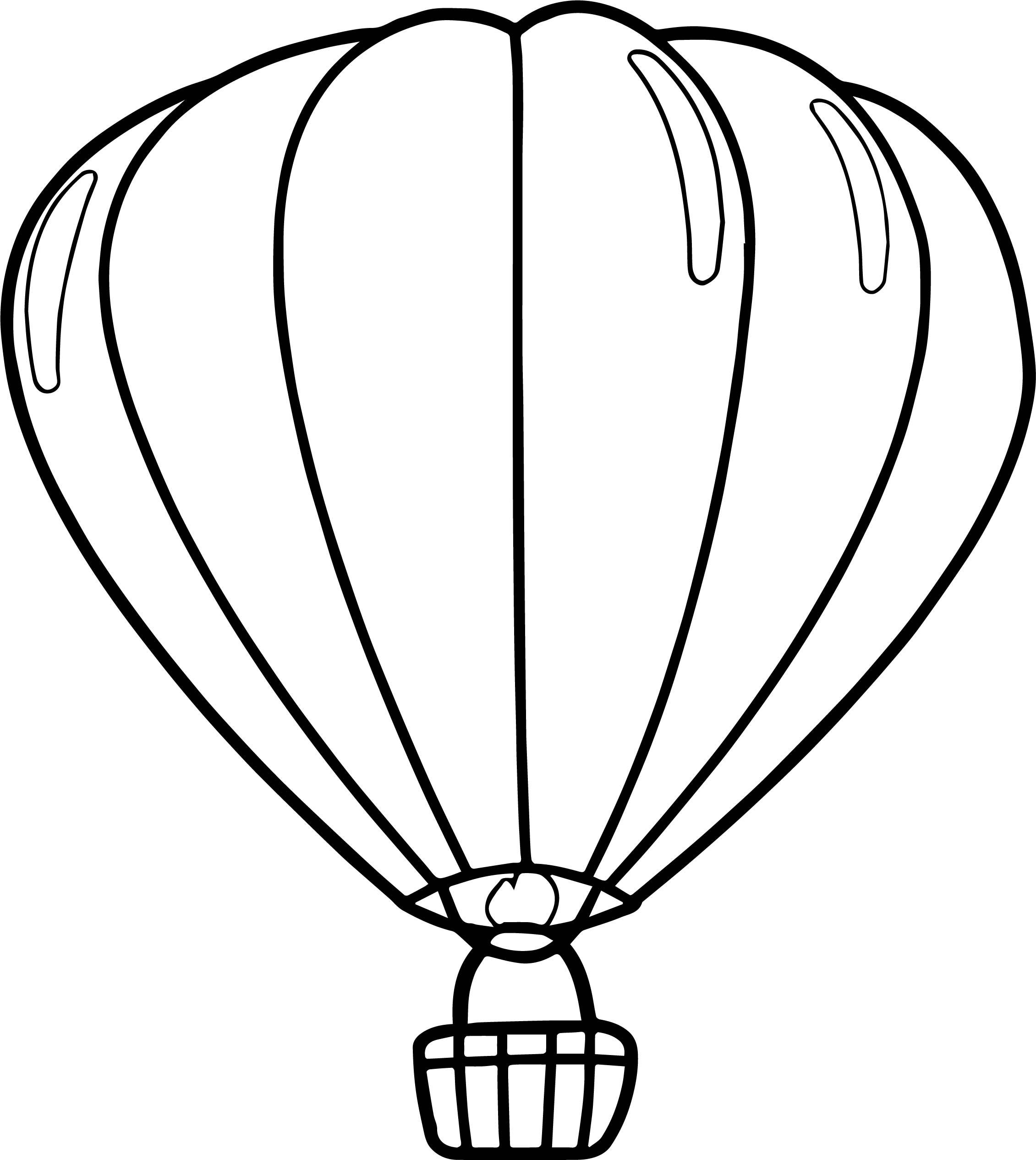 Hot Air Balloon Drawing Template At Getdrawings