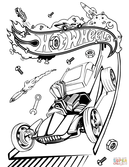 small resolution of 1700x2200 hot rod coloring pages