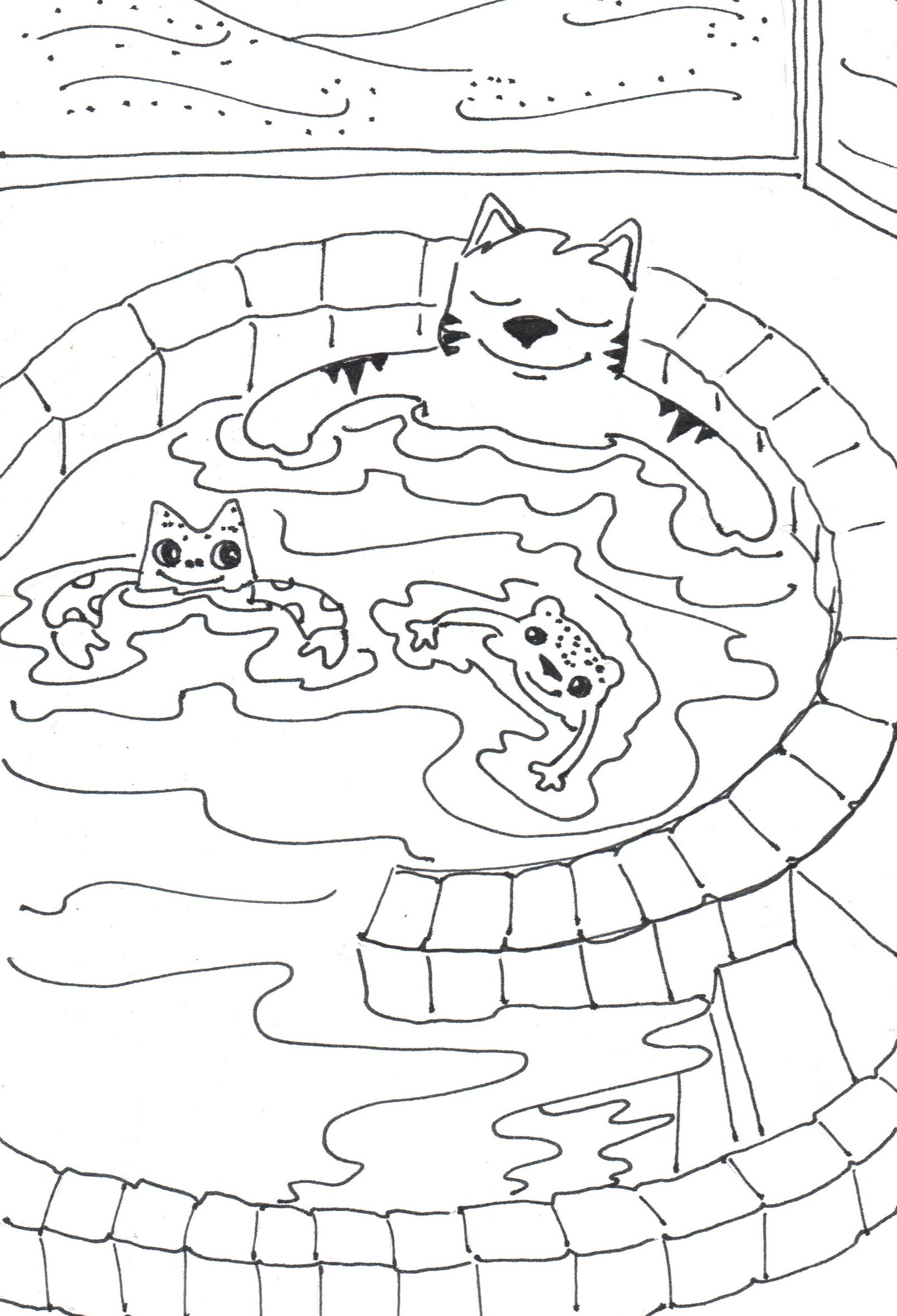 Hot Tub Drawing At Getdrawings
