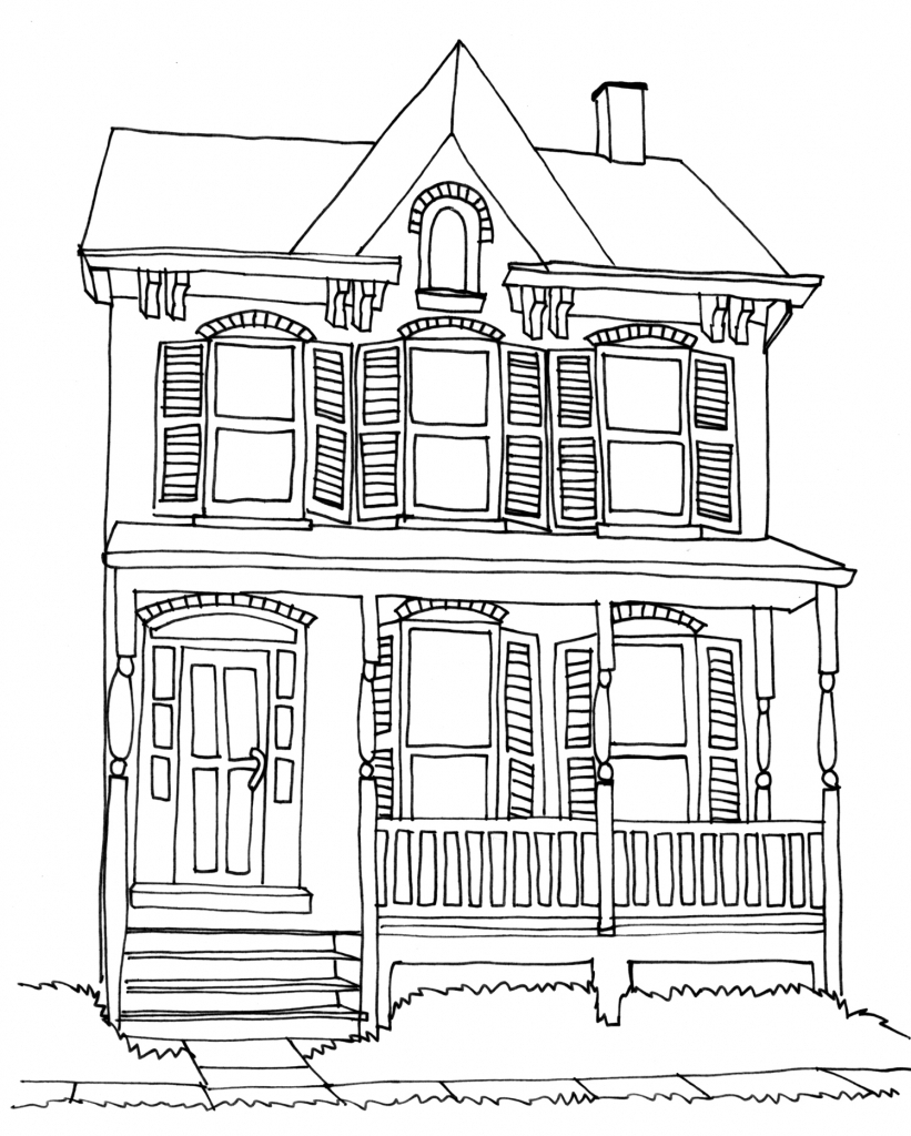 House Pencil Sketch : house, pencil, sketch, House, Pencil, Drawing, GetDrawings, Download