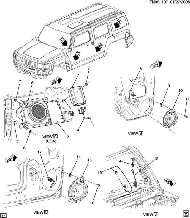 related with hummer h3 radio wiring diagram for amp