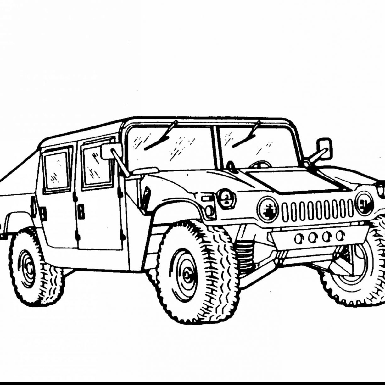 Hummer Drawing At Getdrawings