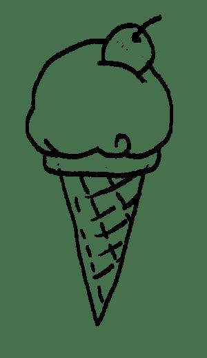 ice cream cone drawing tiddly inks cones icecream drawings flavor quiet favorite markerpop draw hop getdrawings