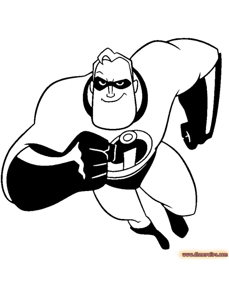 14 Best Disney The Incredibles Coloring Pages Disney