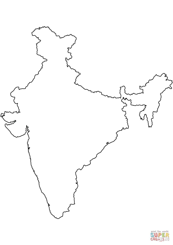 India Map Drawing At Getdrawings
