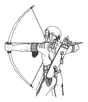 native american coloring boy pages arrow drawing indian lineart arts magnum boys getdrawings deviantart