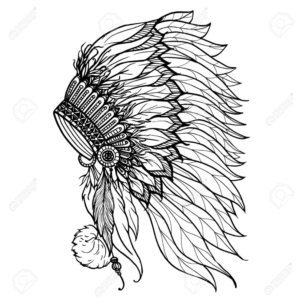 medium resolution of 1300x1300 native american headdress drawing doodle headdress for native