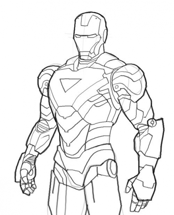 Iron Man Suit Drawing At Getdrawings Com