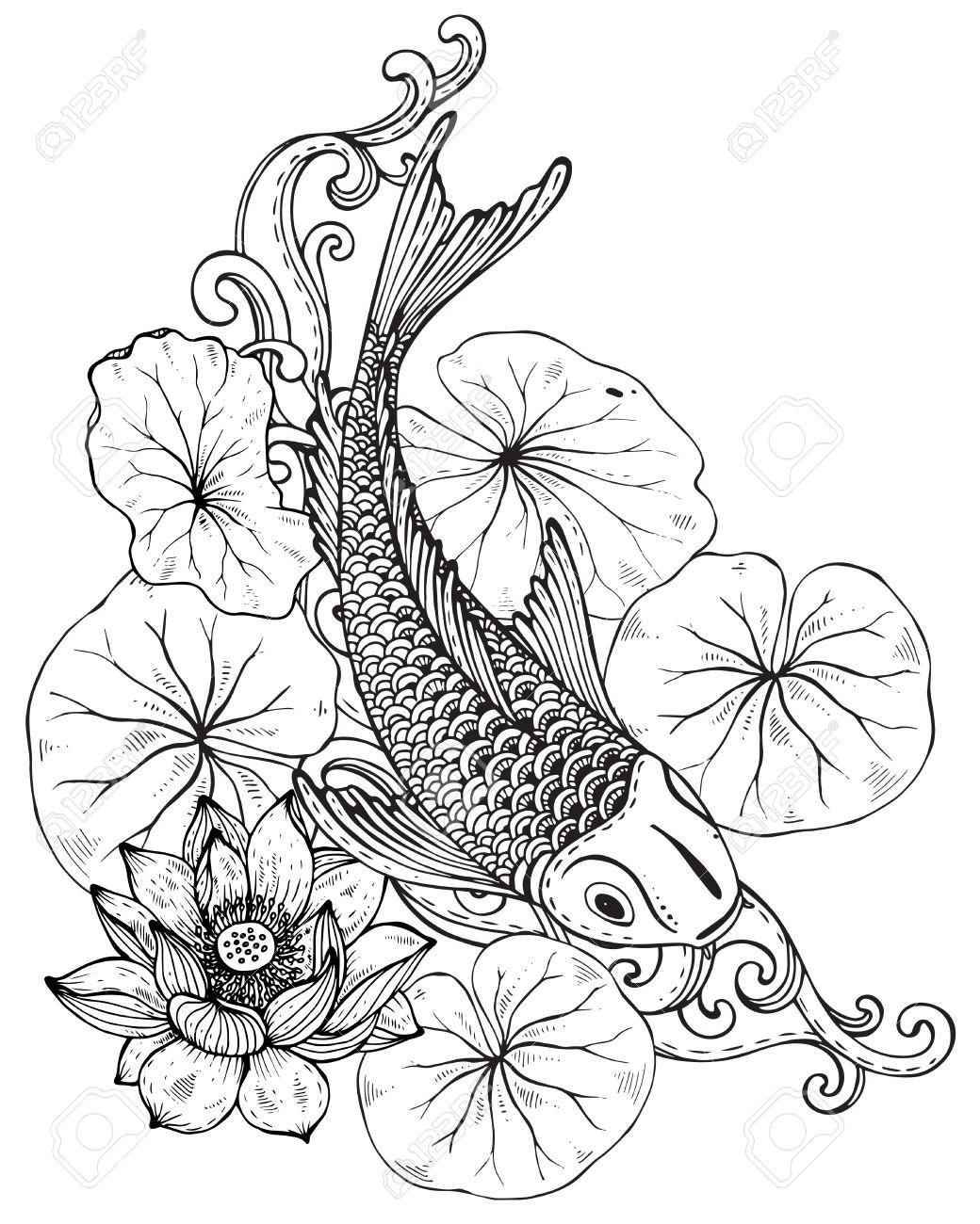Japanese Fish Drawing At Getdrawings