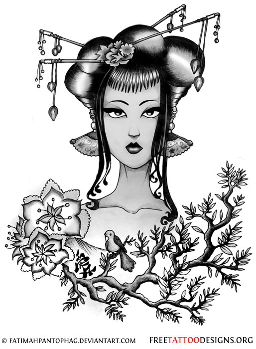 Tokyo Geisha Girl Wallpaper Background Japanese Geisha Drawing At Getdrawings Com Free For