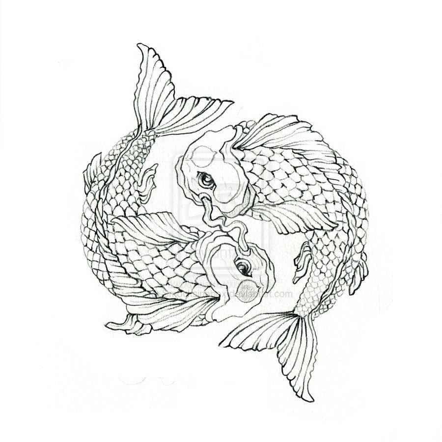 Japanese Yin Yang Koi Fish Tattoo
