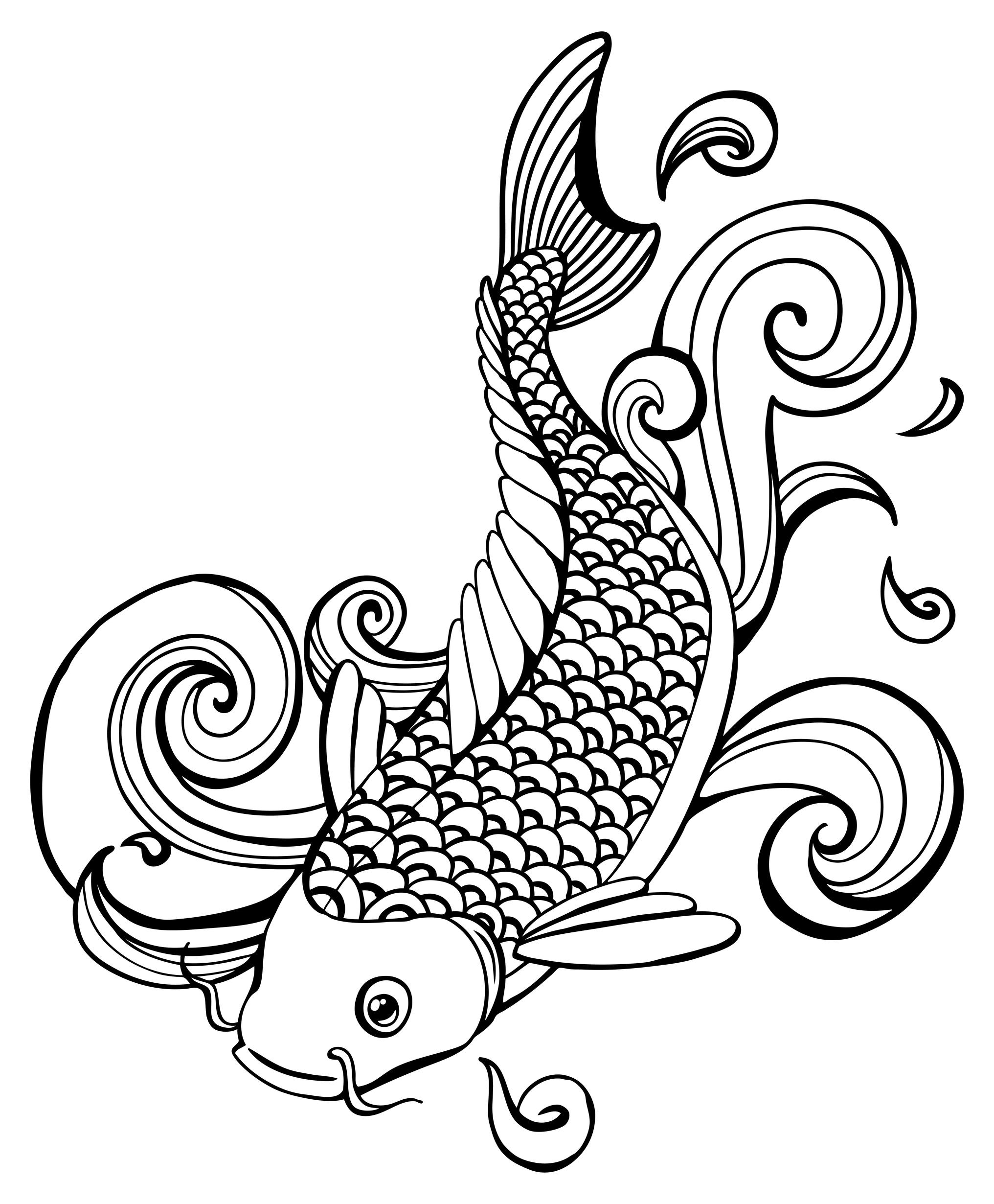 Japanese Koi Fish Drawing At Getdrawings