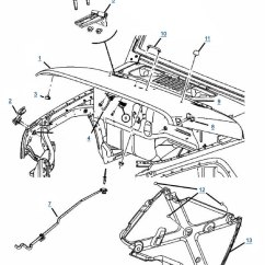 Jeep Wrangler Tj Wiring Diagram 2003 Grand Marquis Fuse Drawing At Getdrawings Com Free For Personal Use 630x727 Jk Hood Parts