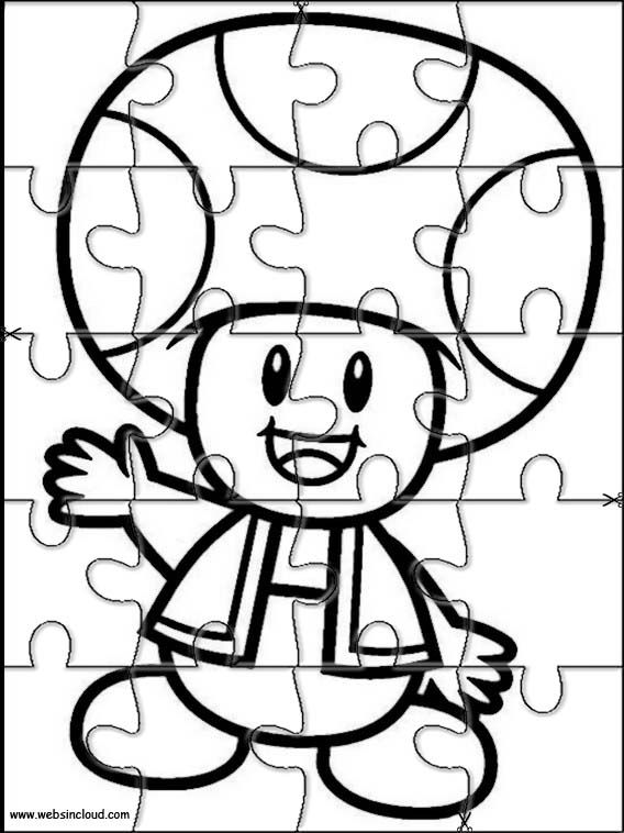 Free Jig Saw Coloring Pages