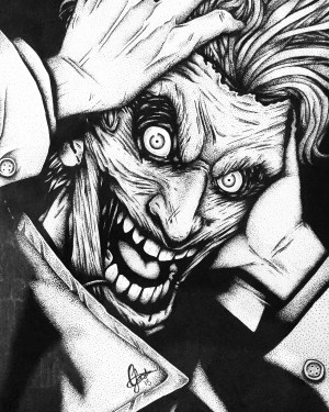 joker drawing comic dark finally finished imgur getdrawings jokers batman album