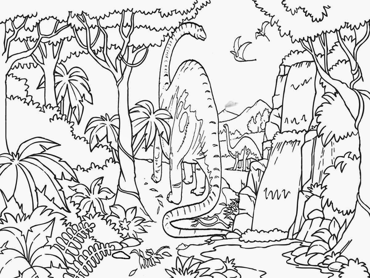 Jungle Scene Drawing At Getdrawings