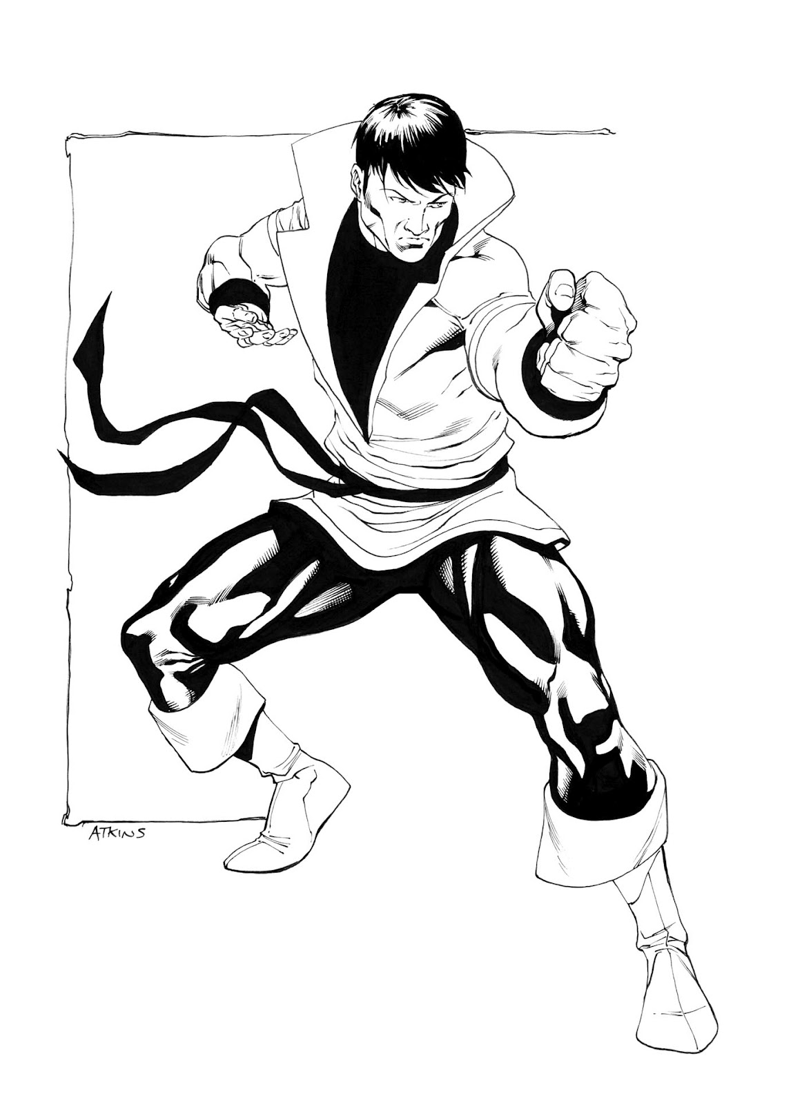 Karate Drawing At Getdrawings