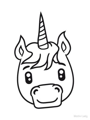 unicorn simple drawing draw face head kawaii cartoon comic sitting getdrawings clipartmag
