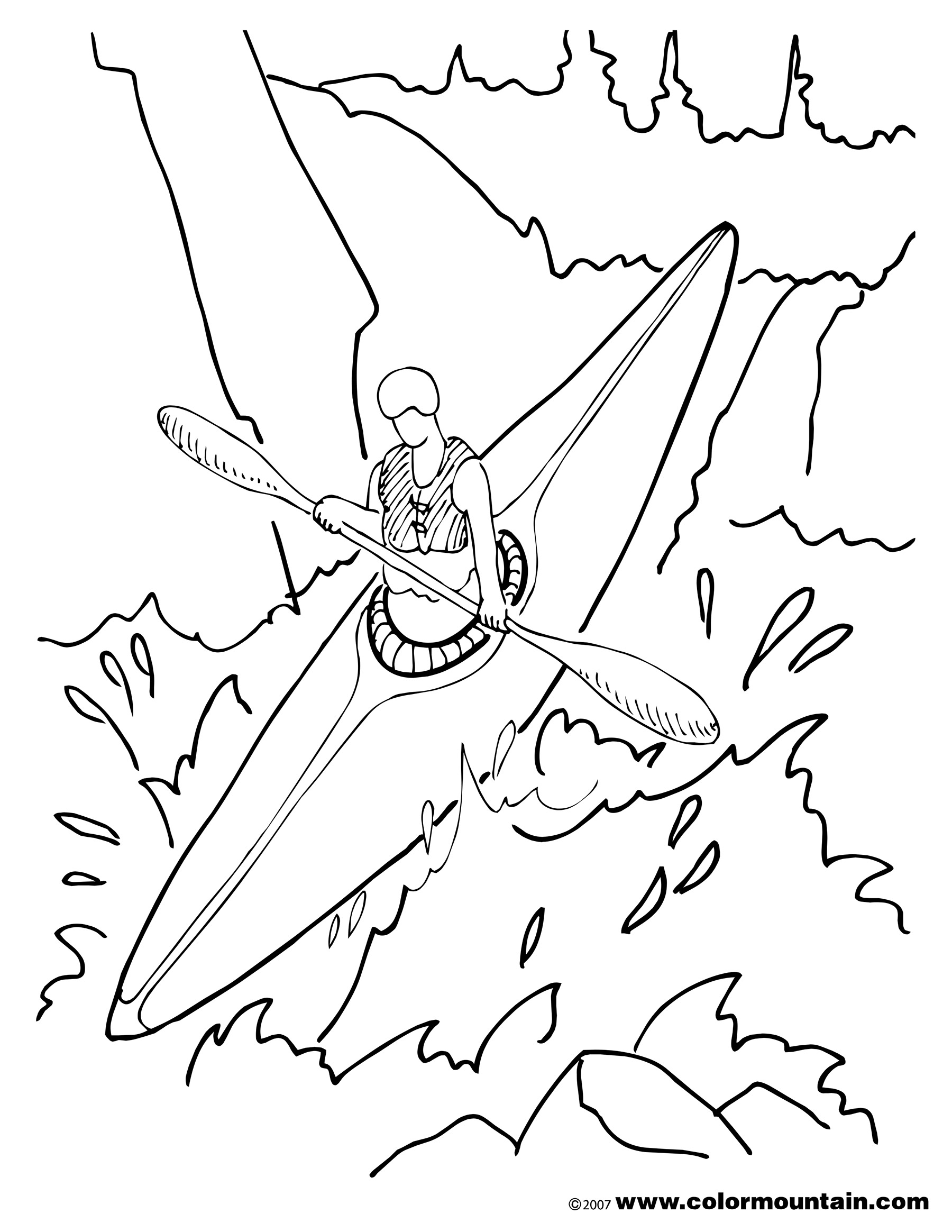 Kayaking Drawing At Getdrawings