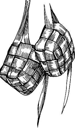 Gambar Ketupat Hitam Putih : gambar, ketupat, hitam, putih, Ketupat, Drawing, GetDrawings, Download