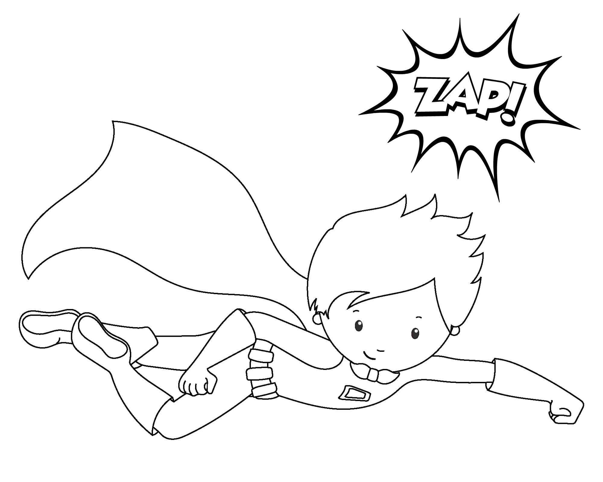Kid Superhero Drawing At Getdrawings