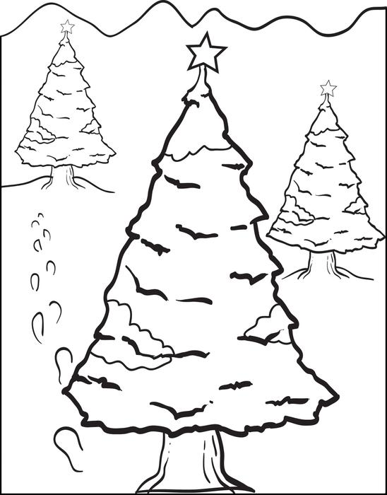 Colours Drawing Wallpaper Beautiful Christmas Tree And