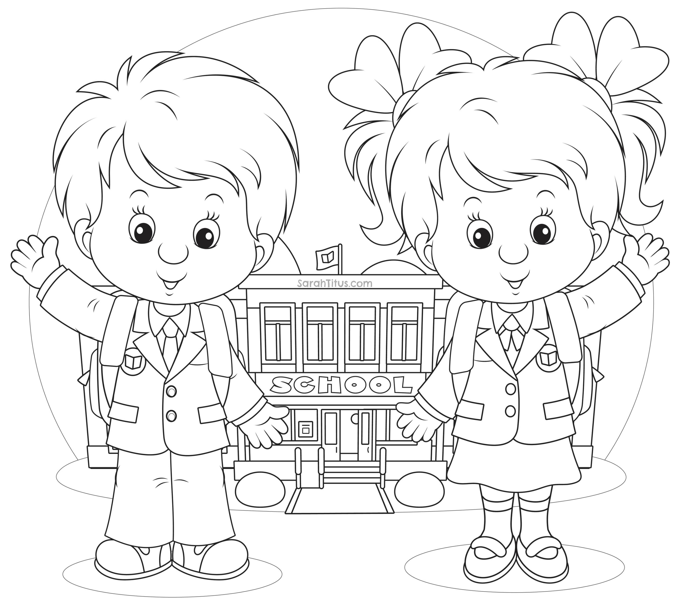 Kids School Drawing At Getdrawings