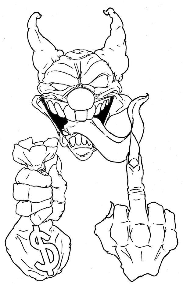 How To Draw A Killer Clown : killer, clown, Killer, Clown, Drawing, GetDrawings, Download