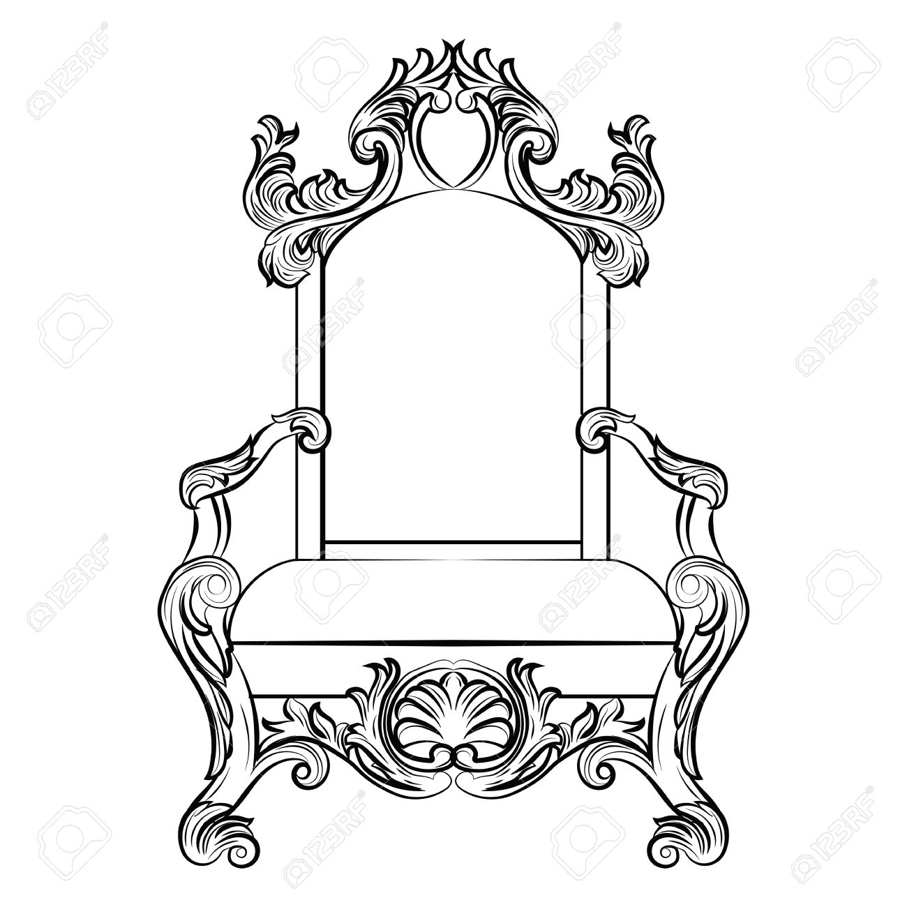 King On Throne Drawing At Getdrawings