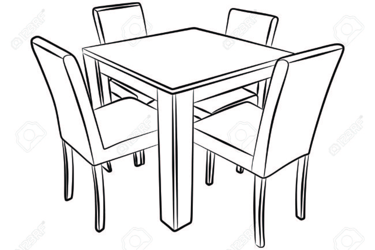 Kitchen Table Drawing At Getdrawings