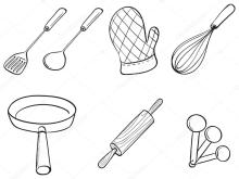 Kitchen Items Coloring Pages