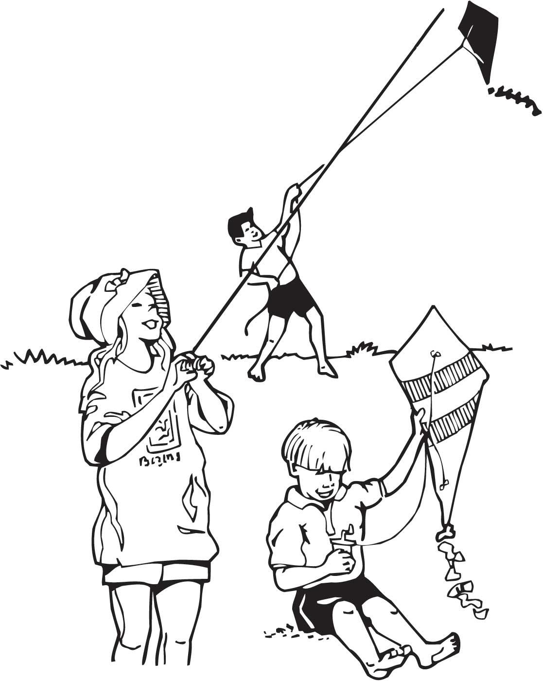 Kite Drawing At Getdrawings