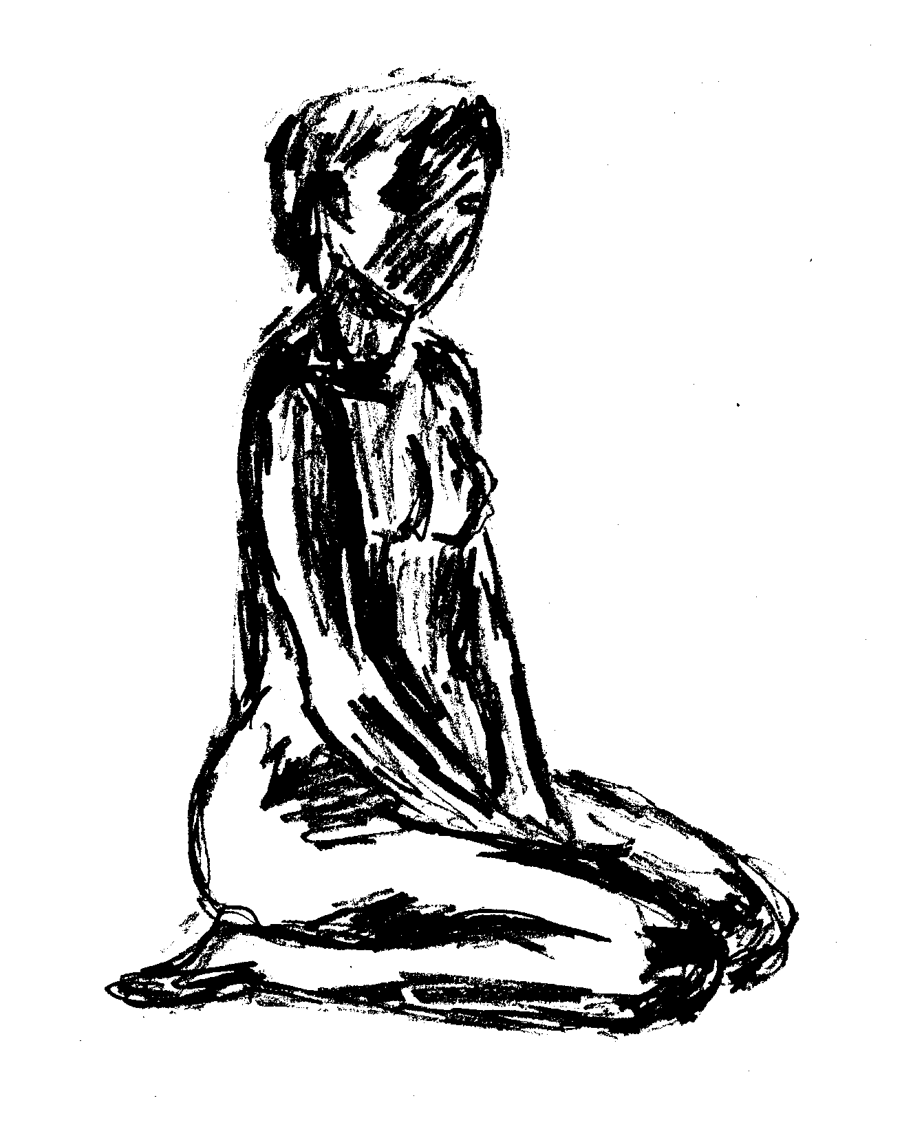 How To Draw A Person Kneeling : person, kneeling, Kneeling, Drawing, GetDrawings, Download