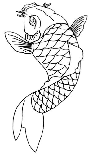 koi fish drawing outline tattoo carp simple drawings sketch japanese stencil tattoos designs pencil superb koy japan uploaded line template