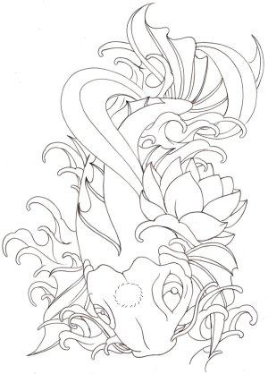 koi tattoo japanese fish drawing simple tattoos coy drawings metacharis deviantart coloring designs pages sketches flash getdrawings things tatoos