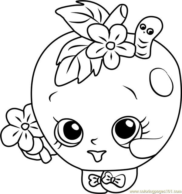 Kooky Cookie Shopkin Coloring Page