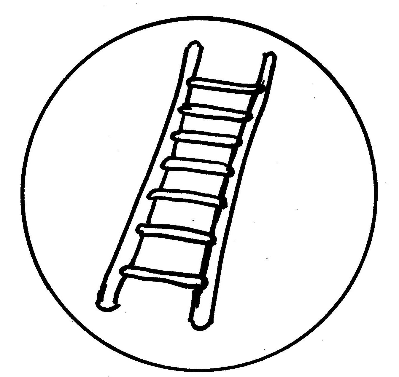 ladder safety art