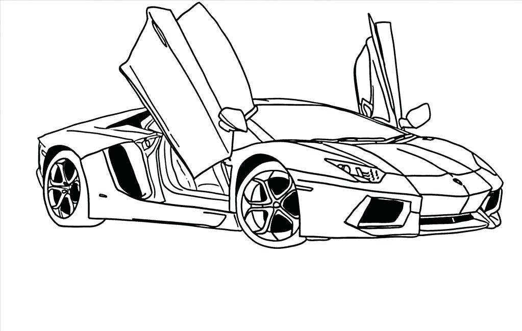 Lamborghini Aventador Drawing Outline at GetDrawings.com