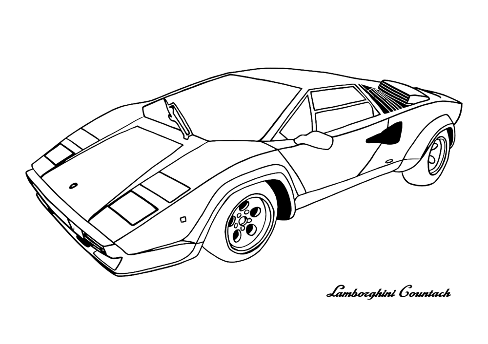 medium resolution of 1600x1130 cars lamborghini countach cars coloring pages kids net