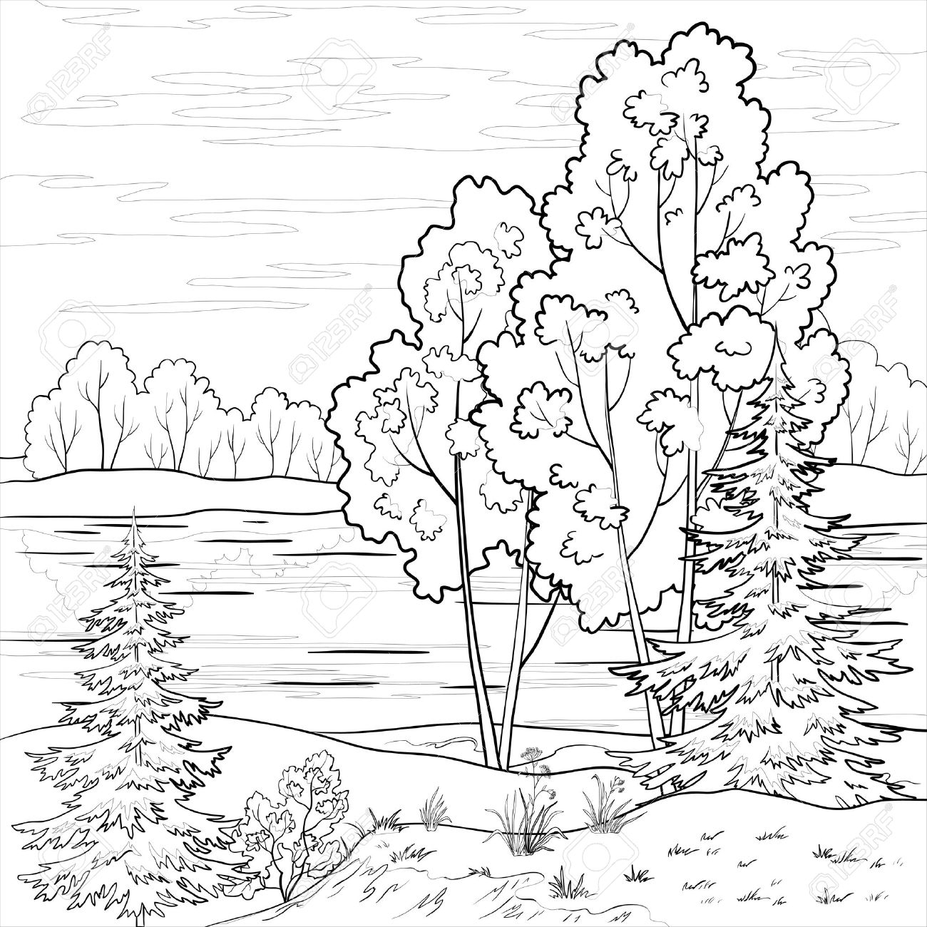 Landscape Drawing At Getdrawings