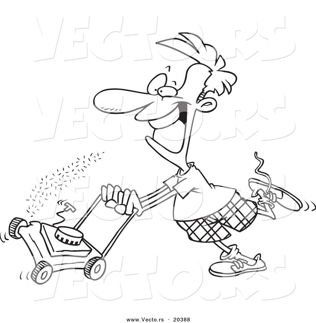 Lawn Mower Drawing At Getdrawings