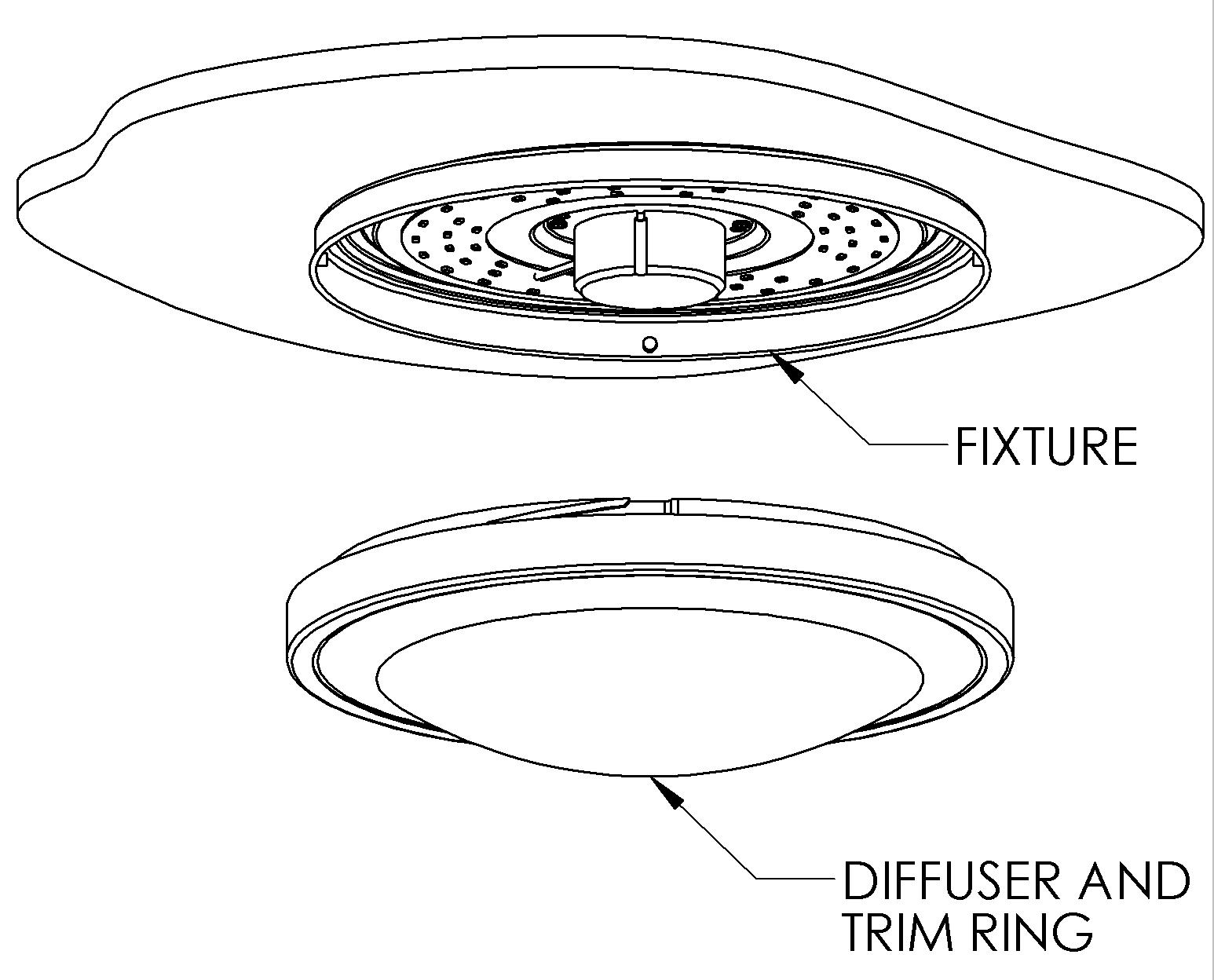 hight resolution of 1546x1248 12 flush mount led ceiling light w white housing