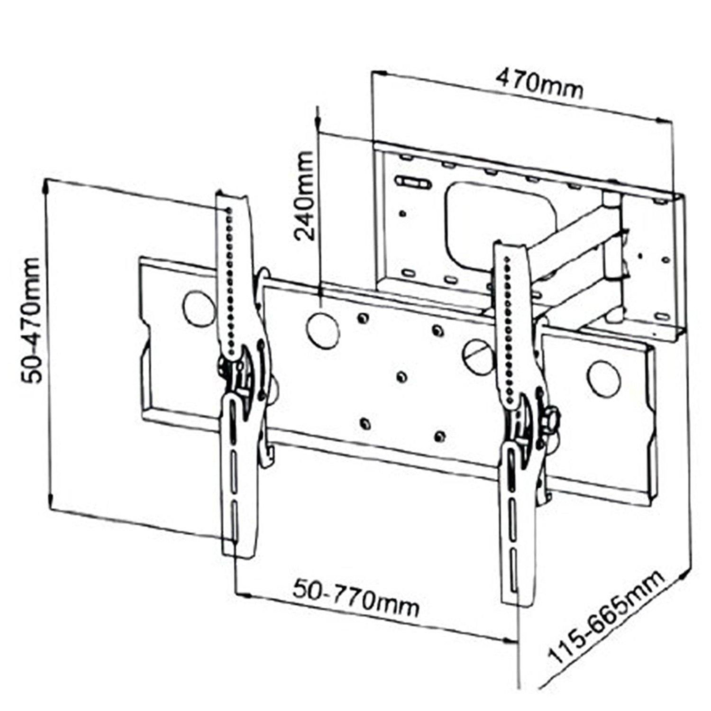1500x1500 2xhome new tv wall mount bracket single arm secure