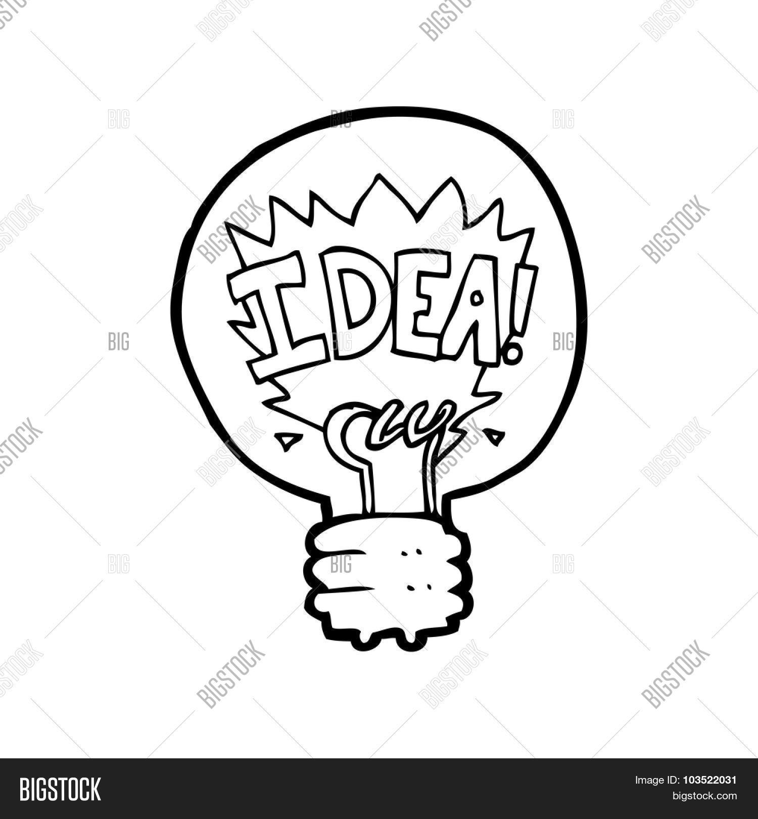 Light Bulb Line Drawing At Getdrawings