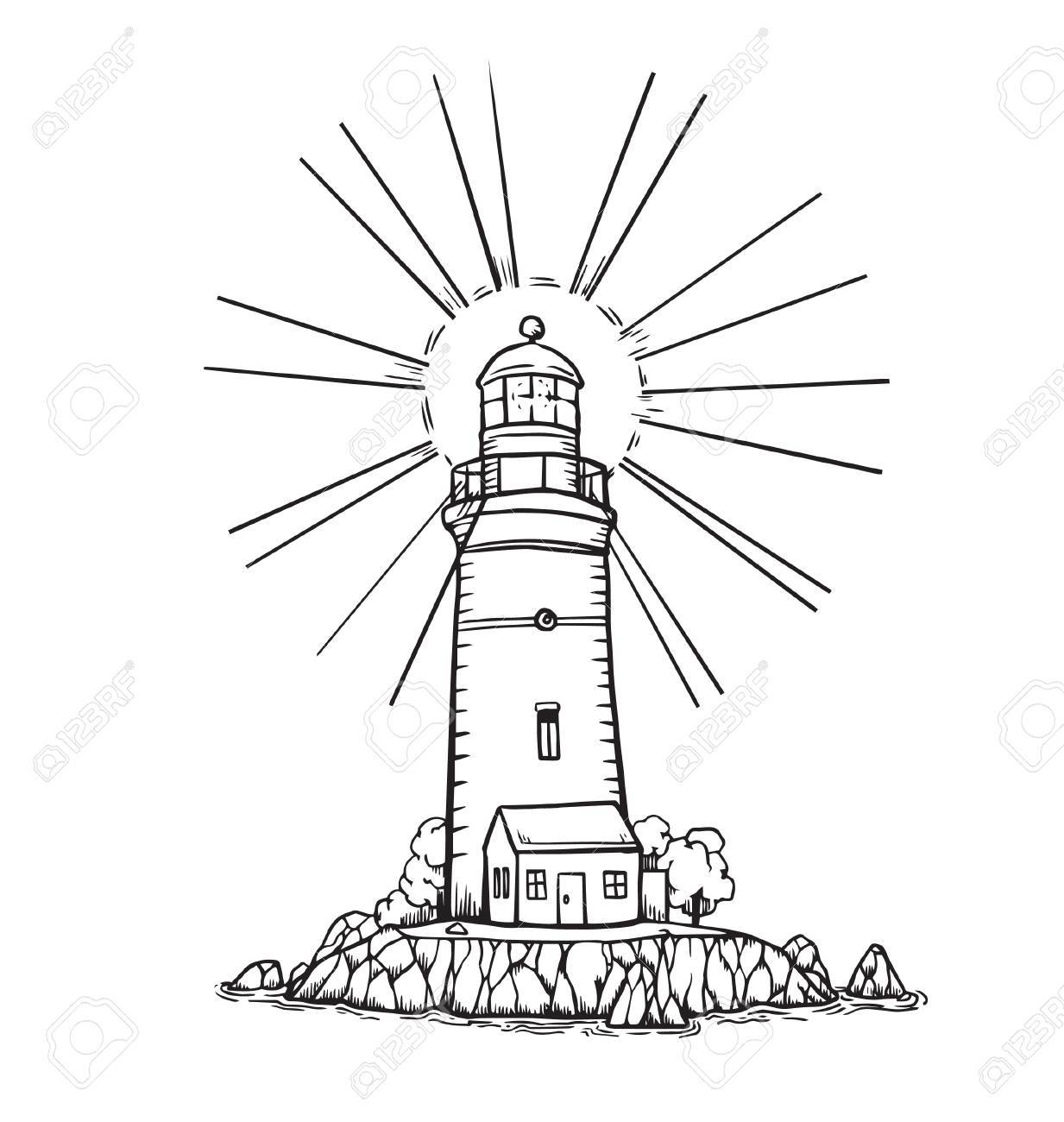 Lighthouse Drawing Images At Getdrawings